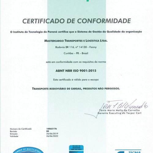 Certificado ISO 9001.2015